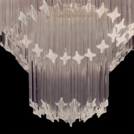Stelle - Murano glass chandelier detail