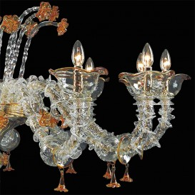 Perseus - Murano glass chandelier, detail