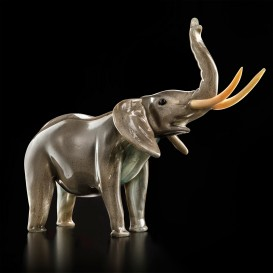 Grey Elephant in Murano glass