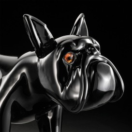 Small black bulldog detail
