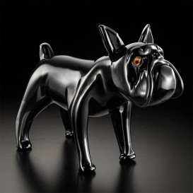 Big black bulldog in Murano glass