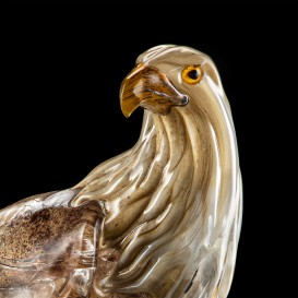 Eagle on crystal base in Murano glass detail