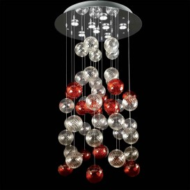 Bolle rosse - Murano glass chandeliers