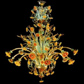 Sunflowers Dubai 12 lights - Murano glass chandelier