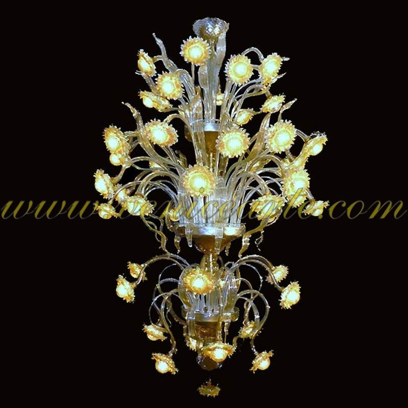tournesols lumineux lustre en verre de murano. Black Bedroom Furniture Sets. Home Design Ideas