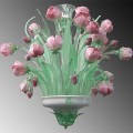 Tulips - Murano glass chandelier