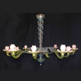 Water Lilies - Murano chandelier 12 lights