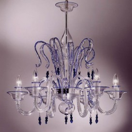 Bellini - Murano glass chandelier 8 lights