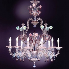 Canova - Murano glass chandelier 10 lights