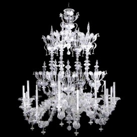 Crystal Rezzonico - Murano glass chandelier 18 lights