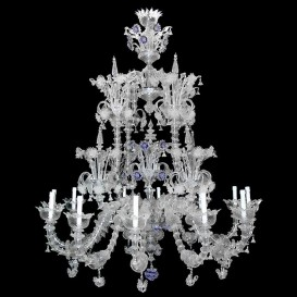 Diamante - Murano glass chandelier Rezzonico 12 lights