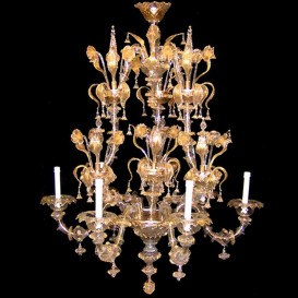 Rezzonico gold - Murano glass chandelier 6 lights