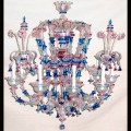 Octopus - Murano glass chandelier