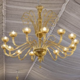 Murano glass chandelier New York 15 lights