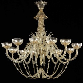 Murano chandelier Rezzonico Queen 12 lights