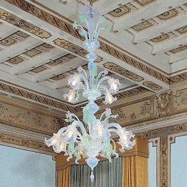 Murano glass chandelier Washington 12 lights