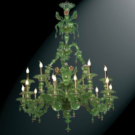 Murano glass chandelier Rezzonico Capriccio 15 lights