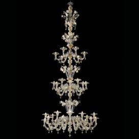 Murano glass chandelier Rezzonico Emperor 36 lights