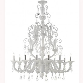 Murano glass chandelier Rezzonico Candice 12 lights
