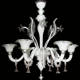 Murano Chandelier Z100 White 6 lights