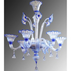 26/6 - Murano glass chandelier 6 lights