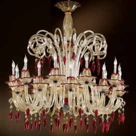 Ca' Giustinian - Murano glass chandelier 20 lights