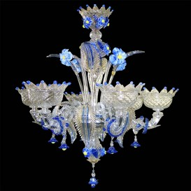 24/6 - Murano glass Chandelier 6 lights