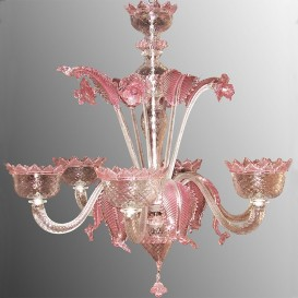 22/6 - Murano glass Chandelier 6 lights