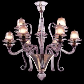 Campanule - Murano glass chandelier 9 lights