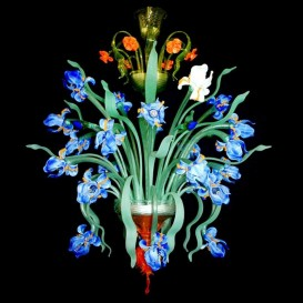Murano glass chandelier Iris Van Gogh with 24 lights