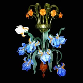 Murano glass wall sconce Iris Van Gogh with 8 lights