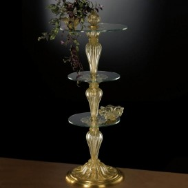Murano glass column table 905