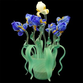 Iris small - Murano Table lamp-vase