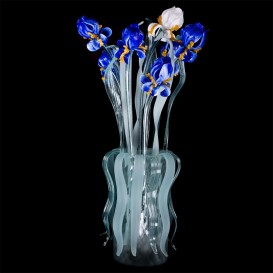Lampe de table-vase Bouquet Iris