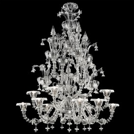 Murano glass chandelier Rezzonico Atlanta 12 lights