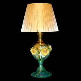 Lampe de table en verre de Murano Tournesols
