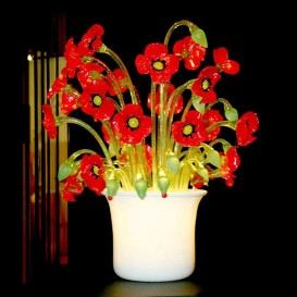 Murano Table lamp-vase Poppies