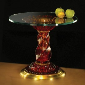 Table ronde en verre de Murano 901