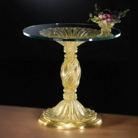 Table ronde en verre de Murano 900