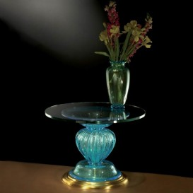 Table ronde en verre de Murano 904