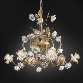 Rose - Murano glass chandelier
