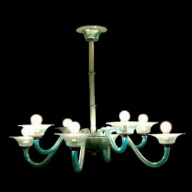 Acquamarina - Murano glass chandelier 8 lights