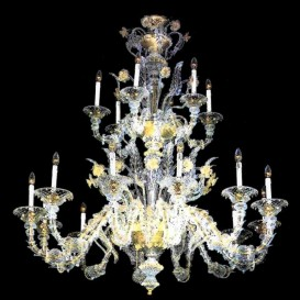 Murano glass chandelier Old Rezzonico Balbi 18 lights