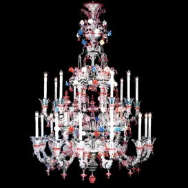 Murano glass chandelier Old Rezzonico Ducale 20 lights