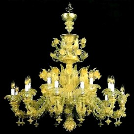 Fortunity - Murano glass chandelier Old Rezzonico 18 lights