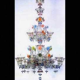 Santa Margherita - Old Rezzonico - Murano glass chandelier 15 lights