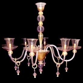 Corner - Venetian glass chandelier