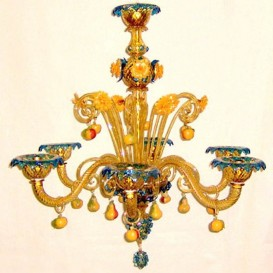 Fruits 8 lights - Venice glass chandelier