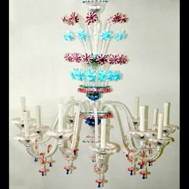 San Basilio - Murano glass chandelier 12 lights