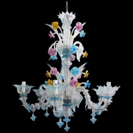 San Giuseppe - Murano glass chandelier 6 lights